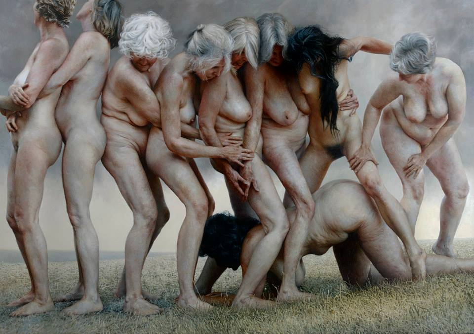 "Foto: Aleah Chapin. ""It Was The Sound Of Their Feet"", oil on linen, 84 x 120 inches"
