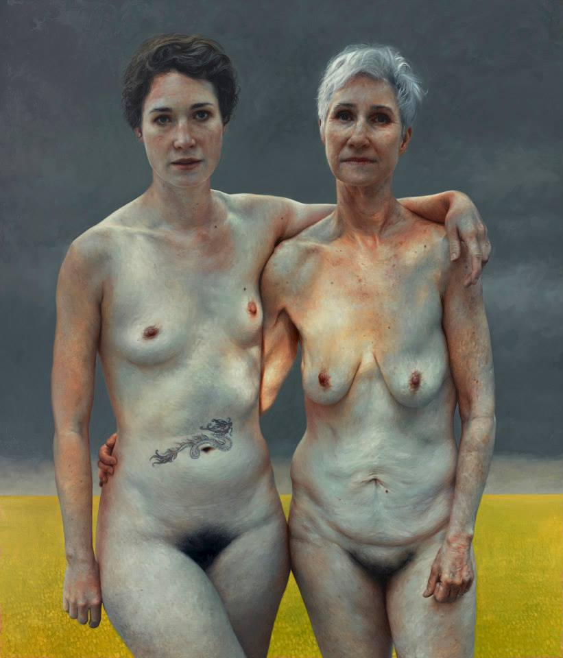 """Foto: Aleah Chapin. """"Jumanji and Gwen"""", oil on linen, 84 x 72 inches"""