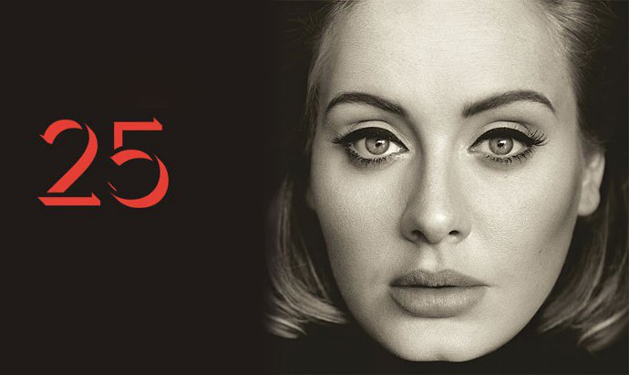 Foto: Adele, Cover Album 25